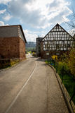 Country road. German back country road farmland winding roads Royalty Free Stock Images