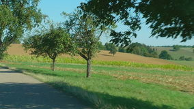 Country road in Germany stock video