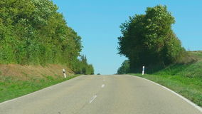 Country road in Germany stock footage