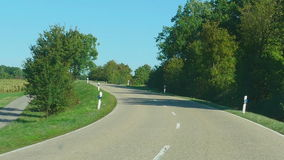 Country road in Germany stock video footage