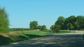 Country road in Germany. Baden-Wurttemberg stock video