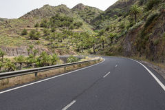Country road on Gomera island, Spain Royalty Free Stock Image
