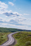 Country road. In Iceland on a summery Royalty Free Stock Image