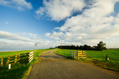 Country Road In The Netherland Stock Photo