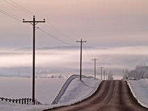 Country Road Into The Fog Royalty Free Stock Photography