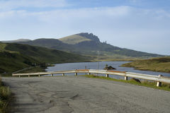 Country road isle of skye scotland Royalty Free Stock Images