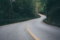 Country road and journey way of traveller to the nature Royalty Free Stock Photos