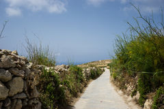 Country Road. Just a small part of the beautiful country roads at Gozo, part of Malta. Gozo has some really excellent walking routes. There are many walking Royalty Free Stock Photos