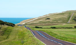 Country Road Leading to the Coast Stock Photography
