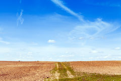 Country Road - Loose Gravel Royalty Free Stock Photos