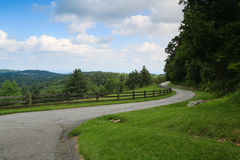 Country Road Moses Cone Memorial Park NC Royalty Free Stock Image