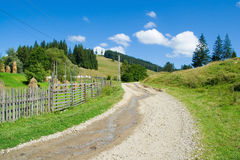 Country road at the mountain. Landscape royalty free stock images