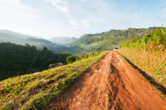 Country road through the mountain Royalty Free Stock Photography