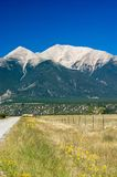 Country Road and Mountains Royalty Free Stock Photo
