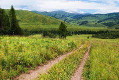 Country Road in mountains Royalty Free Stock Photo