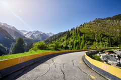 Country road in the mountains Royalty Free Stock Image