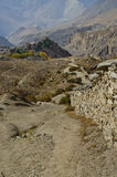 Country road nepal. Very fantastic view on the way to muktinath Stock Image