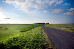 Country road in the netherland Stock Image