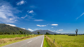 Country road in New Zealand panorama Stock Photo