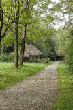 Country road in open-air museum Stock Photo