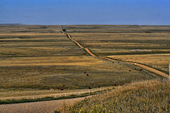 Country Road over the Prairie Royalty Free Stock Photos