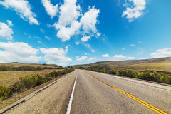 Country road in Pacific Coast Highway Royalty Free Stock Photos