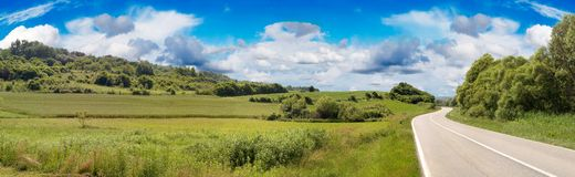Country Road Panorama stock photography