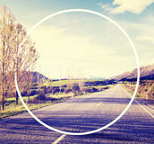 Country Road Roadside Province Rural Scene Concept Royalty Free Stock Image