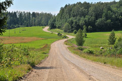 Country road running Royalty Free Stock Photos