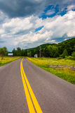 Country road in the rural Potomac Highlands of West Virginia. Royalty Free Stock Photos