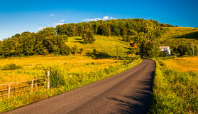 Country road in the rural Shenandoah Valley of Virginia. Stock Photos