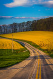 Country road in rural York County, Pennsylvania. Stock Photo