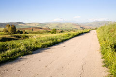 Country road in Sicily Stock Image