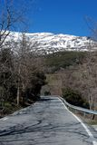 Country road, Sierra Nevada, Andalusia, Spain. Stock Images