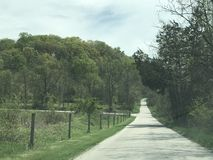 Country Road. A small rural road in Pennsylvania Royalty Free Stock Images