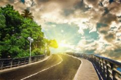 Country road in Spain. Royalty Free Stock Image