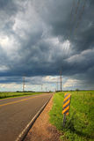 Country road after a storm Royalty Free Stock Image