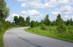 Country road in summer Royalty Free Stock Images