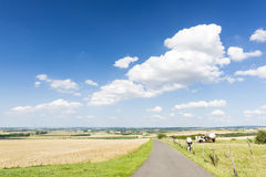 Country Road And Summer Landscape, Germany Royalty Free Stock Photos