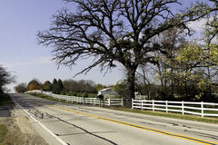 Country road during sunny day Royalty Free Stock Photography