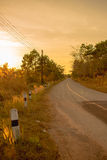 The country road with sunset Stock Image