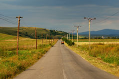 Country road in sunset light Royalty Free Stock Photos