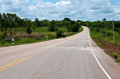 Country road in Thailand Royalty Free Stock Photography