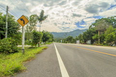 The  country road. In thailand Stock Photos