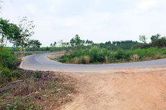 Country road in Thailand Stock Photography