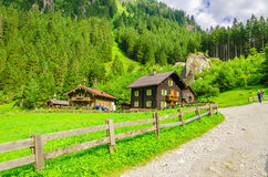 Country road to an alpine house, Austria Royalty Free Stock Photography