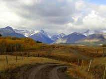A Country Road to the Mountains Royalty Free Stock Photography