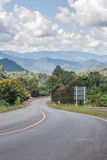 Country road to Sameoung, Chiangmai, Thailand. Royalty Free Stock Photo
