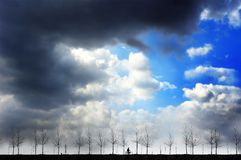 Country Road Under The Sky Royalty Free Stock Photo