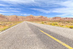 Country road in USA, travel adventure concept. Stock Images